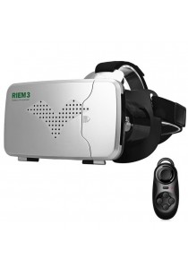 "RITECH Riem 3 3D VR Glasses Head Mounted Headset Private Theater for 3.5 - 6"" Smartphone + Remote Controller"