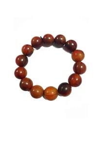 Red Leaf King Of Wood Bead Bracelet (16mm)