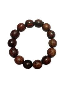 Red Leaf Menang Wood Bead Bracelet (16mm)