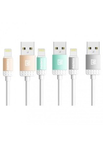 REMAX Lovely Lightning Fast Charging & Data Cable (Gold, Grey, Blue)