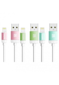 REMAX Lovely Lightning Fast Charging & Data Cable (Pink, Green, Blue)