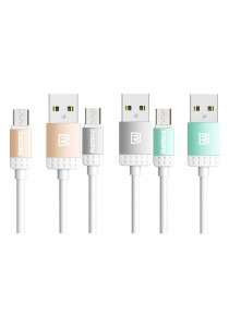 REMAX Lovely Micro USB Fast Charging & Data Cable (Gold, Grey, Blue)