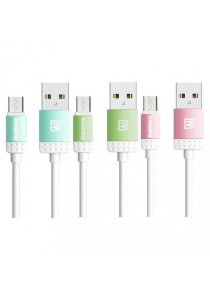 REMAX Lovely Micro USB Fast Charging & Data Cable (Blue, Green, Pink)