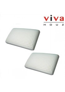 Viva Houz Rubber Foam Pillow (Deluxe) - Set of 2