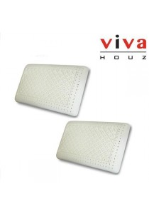 Viva Houz Rubber Foam Pillow (Super Deluxe) - Set of 2