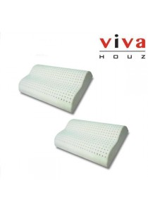 Viva Houz Rubber Foam Pillow (Contour Pillow) - Set of 2