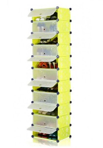 Tupper Cabinet 11 Tier 11 Cubes Green Flower DIY Shoe Rack