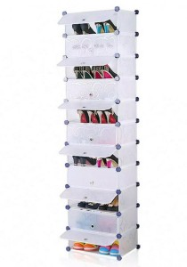 Tupper Cabinet 11 Tier 11 Cubes White Stripes DIY Shoe Rack