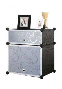 Tupper Cabinet DIY Bedside Storage 2 Cubes  Black