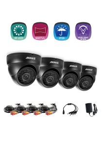 [4 Units] ANNKE 720P HD TVI IR-CUT IP66 CCTV Security Cameras Dome Cameras - C11BG