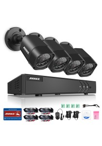 ANNKE 720P HD TVI IR-CUT IP66 CCTV Security Cameras 4 Bullet Cameras - C11BX without HDD