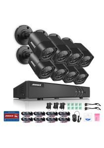ANNKE 8CH 720P HD TVI IR-CUT IP66 CCTV Security Cameras 8 Bullet Cameras - C11BX without HDD