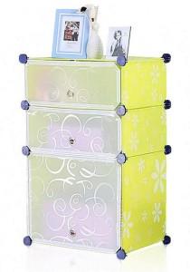Tupper Cabinet 3 Cubes Green Flower DIY  Storage Organizer
