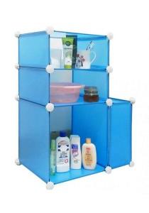 Tupper Cabinet 4 Cubes Bathroom DIY Storage Blue