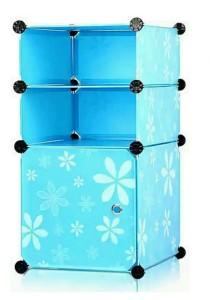 Tupper Cabinet DIY Bathroom Storage 3 Cubes Blue