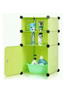 Tupper Cabinet 3 Cubes Green Flower DIY Bathroom Storage Green Flower