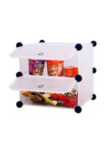 Tupper Cabinet 2 Cubes White Stripes DIY Mini Storage Organizer