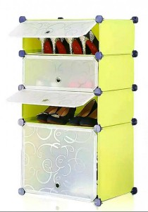 Tupper Cabinet 4 Tier 4 Cubes Fruit Green DIY Shoe Rack