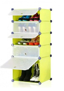 Tupper Cabinet 5 Tier 5 Cubes Fruit Green DIY Shoe Rack