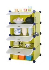 Tupper Cabinet 4 Cubes Fruit Green DIY  Kitchen Storage With 3 Iron Frame