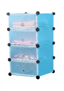 Tupper Cabinet 4 Tier Sky Blue DIY Shoe Rack