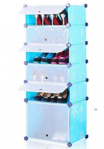 Tupper Cabinet 6 Tier 6 Cubes Blue Flower DIY Shoe Rack