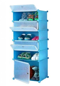 Tupper Cabinet 6 Tier DIY Shoe Rack Blue