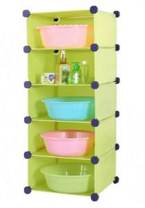 Tupper Cabinet 5 Tier DIY Bathroom Storage Rack Green