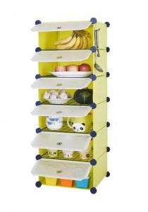 Tupper Cabinet 6 Cubes Fruit Green DIY  Kitchen Storage With 5 Iron Frame