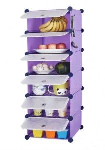 Tupper Cabinet 6 Cubes Purplse Stripes DIY  Kitchen Storage With 5 Iron Frame