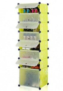 Tupper Cabinet 8 Tier 8 Cubes Green Flower DIY Shoe Rack
