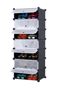 Tupper Cabinet 7  Tier 7 Cubes Black Stripes DIY Shoe Rack