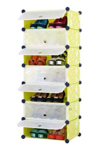 Tupper Cabinet 7 Tier 7 Cubes Green Flower DIY Shoe Rack