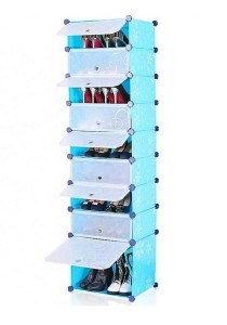 Tupper Cabinet 9 Tier 9 Cubes Blue Flower DIY Shoe Rack