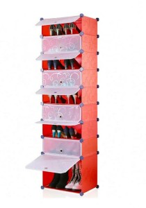 Tupper Cabinet 9 Tier 9 Cubes Red Stripes DIY Shoe Rack