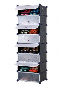 Tupper Cabinet 8 Tier 8 Cubes Black Stripes DIY Shoe Rack
