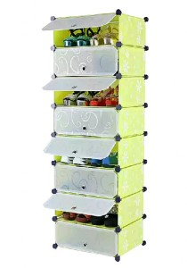 Tupper Cabinet DIY Shoe Rack 8 Cubes (Green)