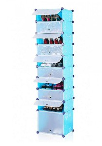 Tupper Cabinet 10 Tier 10 Cubes Blue Flower DIY Shoe Rack