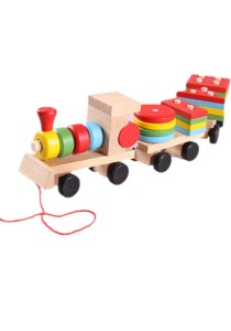 Disassembly Combination 3 Small Wooden Train Educational Toys -BKM29