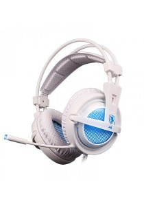 Sades A6 Gaming Headset (White Blue)