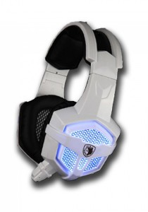 Sades SA-738 Gaming Headset (White Blue)