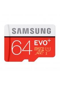 Samsung EVO Plus 64GB 80MB/s MicroSDHC U1 UHS I Memory Card with Adapter