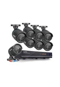 Sannce 4CH 720P 1200TVL Surveillance DVR Video AHD 1080P Home Security Camera System