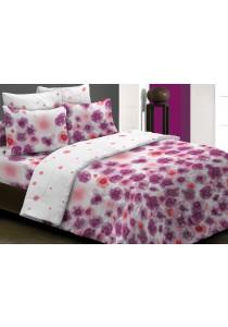 Essina 100% Cotton 620TC Fitted Bed Sheet set + Comforter Sasha 28cm - King