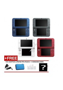 Nintendo NEW 3DS XL Console + FREE 1 Random GAMES +Free Pouch + Screen Protector + Adapter