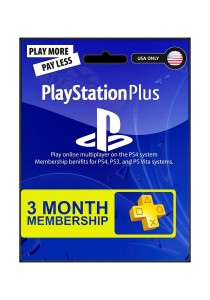 3-Month Playstation Plus Membership - PS3/ PS4/ PS Vita [Digital Code] (US PSN ONLY)