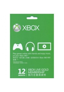 Xbox Live 12-month Gold Card (ASIA)