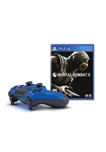 PS4 DualShock 4 (Wave Blue) - Mortal Kombat x Bundle