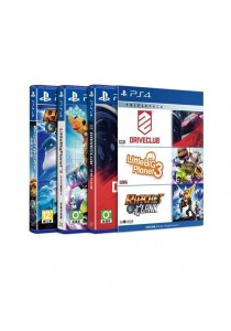 PlayStation 4 Triple Pack #3 (Driveclub, LittleBig Planet 3, Ratchet & Clank)