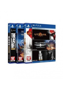 PlayStation 4 Triple Pack #2 (God of War III Remastered ,Helldivers: Super-Earth Ultimate Edition ,The Last of Us Remastered)